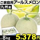 メロン ご家庭用 九州産 アールスメロン 約8kg1箱 食品 【常温便】