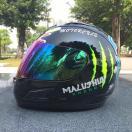 バイク ヘルメット フルフェイス モンスター 爪痕 フリップアップ メンズ レディース シールド付き MALUSHEN バイク ウェア
