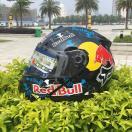 バイク ヘルメット フ レッドブル ルフェイス フリップアップ メンズ レディース シールド付き MALUSHEN バイク ウェア