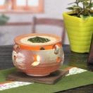 茶香炉!陶器茶香炉/しがらきやき茶香炉/茶こうろ/アロマポット/信楽焼/茶/インテリア/和風/陶器/火色灰吹茶香炉[ty-0011]