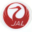 アイロンワッペン ワッペン キャラ・ロゴワッペン 刺繍ワッペン JAL アイロンで貼れるワッペン