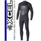 ウェットスーツ  エクセル 3/2mm メンズフルスーツ XCEL AXIS  X2 3/2mm GBS BLK