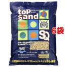 猫砂 トップサンド21SQ ( 7L*6コセット ) ( 猫砂 ねこ砂 ネコ砂 おから ペット用品 )