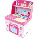 ままごと収納ボックス キッチン ( 1台 ) ( 収納 収納ボックス おもちゃ  ベビー用品 )