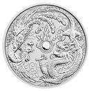 ドラゴン&フェニックス 純銀貨 イギリス 高品質 収集 1オンス 希少 プレゼント シルバーコイン .999 2017年 未流通品 コインケース入り