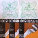 ドミナント4/4楽器用 Violin弦 5弦セットDominant(ADalG)+Goldbrokat(E2本)( 0.25 or 0.26 or 0.27 or 0.28 )   ( Ball or Loop )から選べます
