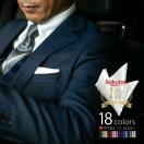 ポケットチーフ 単品 / シルク / 無地 全17色 / 日本製  同色の ネクタイ と セット でどうぞ♪ 白・ピンク・赤・パープル