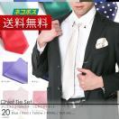 【日本製】 無地 ネクタイ チーフ セット ポリエステル 全20色 / 白 黒 ブルー シルバーなど / ビジネス 結婚式 パーティ 華やか