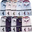 ワイシャツ| 長袖 綿100%ワイシャツ 別注 ジャガード織柄 ボタンダウン カラー