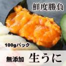生うに 冷凍 無添加  100g お刺身 うに丼 お寿司 業務用 パスタ 高級食材