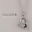 ネックレス レディース ダンシングストーン 猫 ねこ ネコ CAT 揺れる レディース アクセサリー