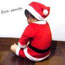 ■MILKISS(ミルキス) サンタクロース ロンパース+帽子2点セット■サンタ 衣装 ベビー ロンパース クリスマス