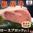 肉 ギフト ステーキ 飛騨牛 特上ロースブロック 約1kg  化粧箱入 牛肉 ...
