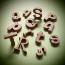 木製切文字アルファベット(英字) 栗3cmの木の文字