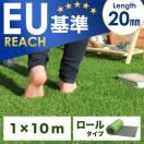 人工芝 ロール ロールタイプ リアル人工芝 芝生 1m×10m U字固定ピン20本入 芝丈20mm 10m 人工 芝 ロール