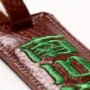 イタリアンレザーに刺繍致します!(革色6色・糸色10色)ゴルフ ネームプレート 牛革片面刺繍