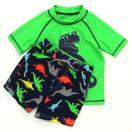 カーターズCarter'sキッズラッシュガード水着Tシャツ半袖タイプスイムウェア・スイムパンツ上下セット恐竜グリーン