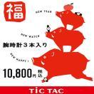 【腕時計3本入で1万円】2017 TiCTAC 福袋 HAPPY BAG WEB-HAPPYBAG 【送料無料】【代引き手数料無料】