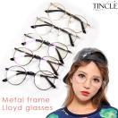 メタルフレームロイドめがね まじめがね 細フレーム 丸めがね サークル グラサン メガネ 伊達眼鏡 レンズあり