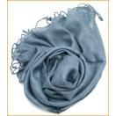 カディコットン風シンプルスカーフ グレー / エスニック 衣料 服 ファッション アジア インド ヘンプ ネパール マフラー