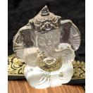 (ちょっと訳あり)ガラスのガネーシャ 12.5cm / アジアン インテリア エスニック インド ガネーシャ像 神様 神様像