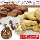 ピーカンナッツチョコ2袋セット(キャラメル50gx1袋&ココア50gx1袋)※チョコレート、お試し、数量限定、バレンタイン、ギフト、メール便で送料無料