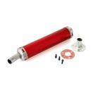 ヤマハ TZM50R/YSR50 サイレンサー アルミ (赤)