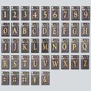 切文字 真鍮文字 【A~M】 38mm  LB38 (ゴールド文字・サインプレート) 【0304superP2】