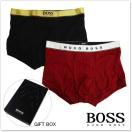 HUGO BOSS ヒューゴボス ギフトボックス入り2枚組メンズボクサーパンツ 2P Gift 50325783 10160082 レッド ブラック