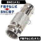 BNC(メス)→アンテナFタイプ(ねじ式:オス)変換アダプタ COMON BNC-FBS  デジパラ C75465