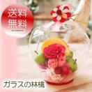 母の日 プレゼント 花 ギフト 誕生日 プリザーブドフラワー  送料無料 アップル ガラス ドーム