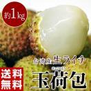 台湾産 生ライチ 玉荷包 約1kg ※冷蔵 【同梱不可】 frt ☆