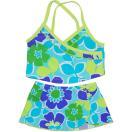 カーターズcarter's水色花柄カシュクール風タンキニ女の子用マリンブルー花カシュクール風タンキニ水着上下2点セット出産祝いスイムウェア