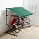 自転車置き場 屋根 テント オーニング 小さい 日よけ 雨よけ 犬小屋 ゴミ置き場 庭 ガーデン 玄関 車庫 日除け 雨避け 雨除け サイクルガレージ
