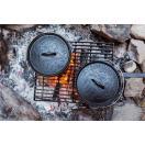 30%OFFセール ポーラー POLER CAMP FIRE DUTCH OVEN BLACK キャンプファイア ダッチオーブン 鋳鉄 キャストアイアン スキレット