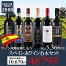 ワイン ワインセット 産地ごとに楽しもう♪ スペイン産 赤ワイン 6本セット 辛口 送料無料