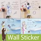 ウォールステッカー キャラクター ディズニー プリンセス リメイクシート カッティングシート 壁 シール 窓 階段 DIY リフォーム