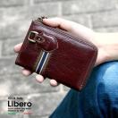 財布 メンズ 二つ折り メンズ 財布 サイフ さいふ 男性 革 本革 本皮 牛革 折財布 Libero L字ラウンドファスナー イタリアンレザー カジュアル プレゼント