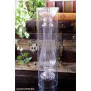 前衛的なデザインのガラス花瓶