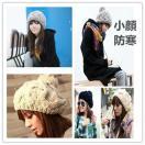 太編み込み ポンポン ニット帽子 ベレー帽 ボンボン ツイスト編み 秋冬 カジュアル ファッション小物・ファッション雑貨 プレゼントにも!