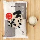 発送日精米 無洗米 精米したて ろはこ米 北海道産ゆめぴりか 5kg 令和元年産 米