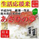 お米 10kg(5kg×2) 栃木県日光市産 白米 一等米 あさひの夢 平成29年産 送料無料