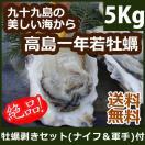 【只今20%OFF】高島一年若牡蠣(殻付き)計...