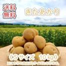減農薬栽培 じゃがいも < きたあかり >  北海道産 じゃがいも  ( S 規格  10 kg)≪ 農家直送 ≫  ようてい山麓ルスツ産  じゃがいも  キタアカリ