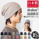 日本製 ニット帽 春夏 帽子 メンズ レディース サマーニット帽 dralon(ドラロン)メッシュニットワッチ [M便 3/8] ゆ4