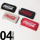 E-come (イーカム) Coca-Cola 3D刺繍 ラウンドジップ スウェット 長財布