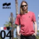 BANKS バンクス オーガニックコットン100% ワンポイント クルーネック 半袖 Tシャツ メンズ カジュアル 男性