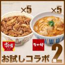 お試しコラボ2種セットすき家牛丼の具5パック×なか卯親子丼の具5パック