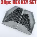 六角レンチセット 専用BOX付き 30サイズ HEX KEY SET 30種類 六角棒レンチ 六角ネジ締め ヘックス 工具 ツール