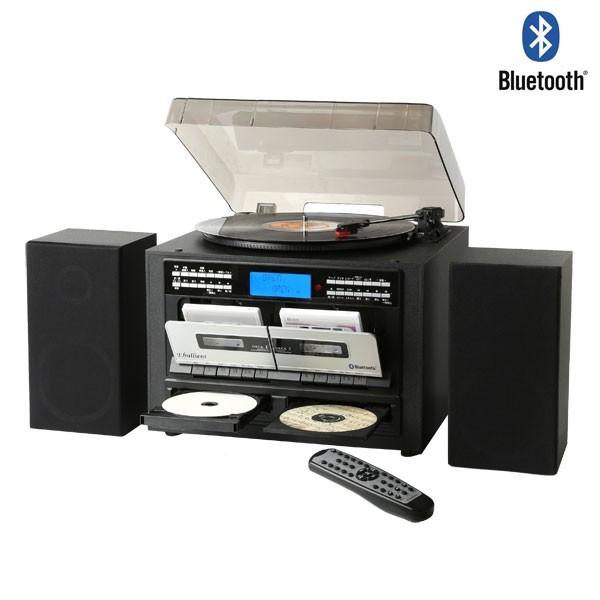 CD録音機能付き Wカセット レコードプレーヤー マルチプレーヤー Bluetooth CDコピー TS-6159